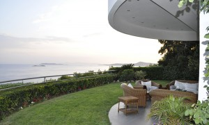 Residential Property House for Sale in Greece - View of the sea from the gallery right