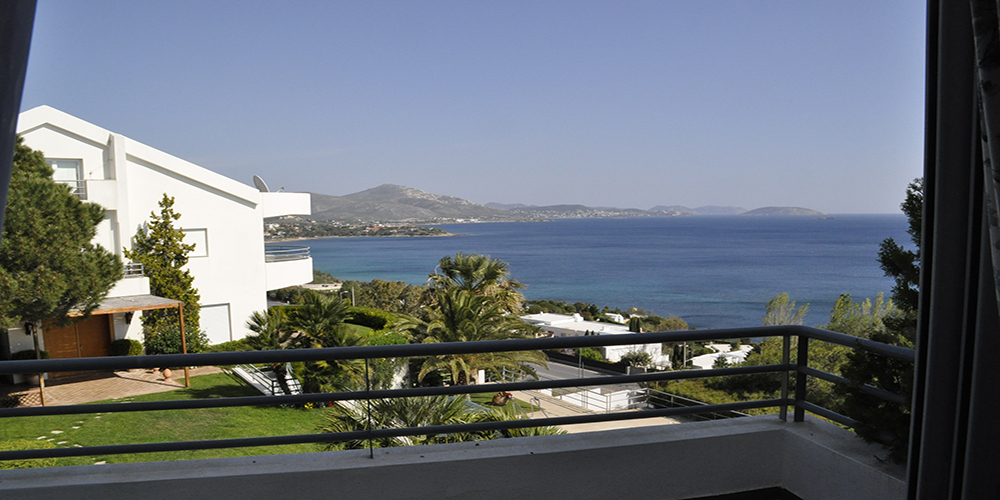 Residential Property House for Sale in Greece - View of the sea from the balcony of the houses