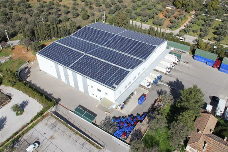 Greece: warehouse for sale commercial property for sale in greece - aerial view of the real estate property for sale